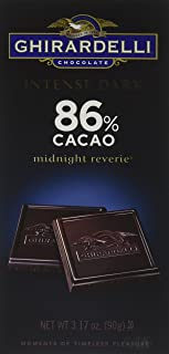 Ghirardelli Intense Dark 86% Cacao Midnight Reverie Chocolate Bar, 3.17 Ounce (Pack of 12)