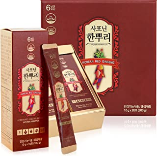 Korean Panax Red Ginseng Extract-6 Year Roots Ginsenoside-20mg Made in Korea. Every Day for Immunity, Energy & Stamina Boost, Memory, Mood, Focus, and Overall Health 10g X 30 Pcs