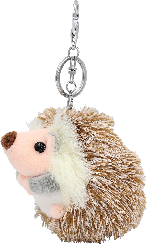 22. Fluffy Hedgehog Pom Pom Keychain