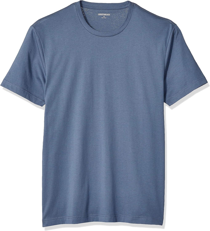 Goodthreads Camiseta de Manga Corta de algodón con Cuello Redondo Hombre