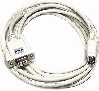 RS232 DB9 to Mini DIN Adapter Cable for Allen Bradley Micrologix PLC, 1761-CBL-PM02 Compatible, EZSync704