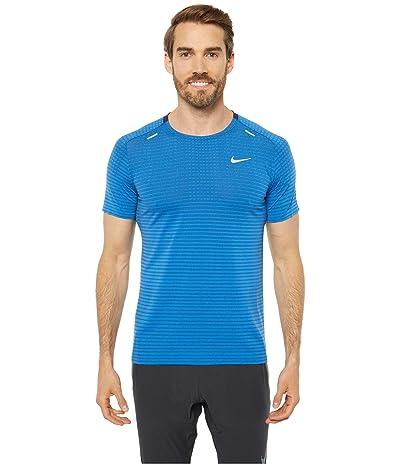 Nike Techknit Ultra Short Sleeve (Pacific Blue/Obsidian/Reflective Silver) Men