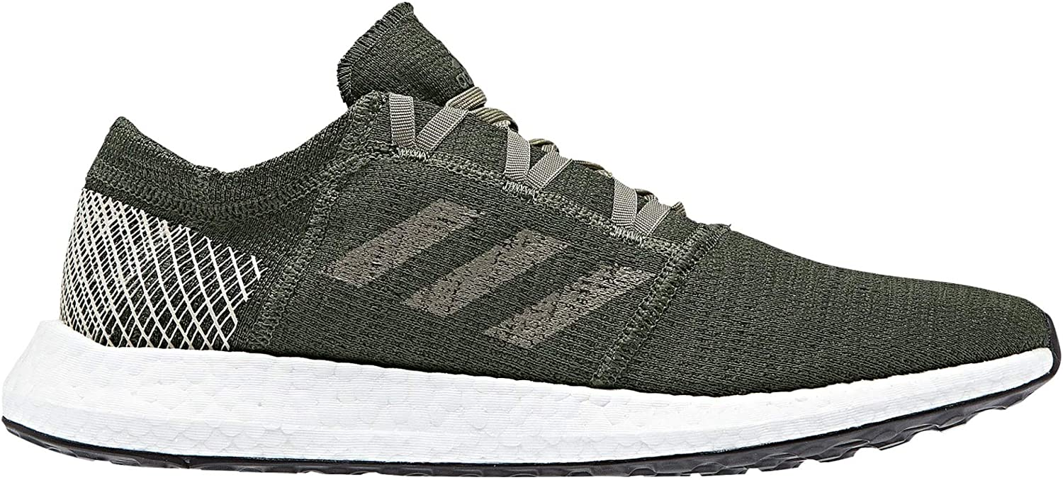 Adidas Running Men's Pureboost Go Base Green Trace Cargo Shock Pink 13 D US D (M)