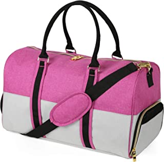 EleSac Canvas Style Duffel Bag for Men and Women with Shoe Compartment - Weekend  Bag for 46d1dfaa4dcd4