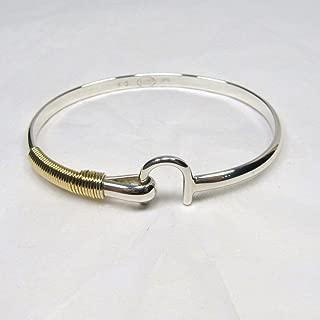 St. Croix Hook Bracelet 4 mm, Sterling Silver and 14K Gold Fill Hook Braclet, Island Love Bracelet, Couples Unisex Bracelet