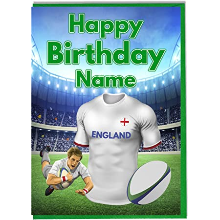 Personalised Rugby Shirt Birthday Card and Badge London Welsh Colours