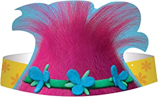 Trolls The Movie Paper Hats 8ピース誕生日パーティーSupplies