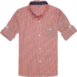 baby boy orange plaid shirt
