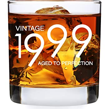 Amazon Com 1999 21st Birthday Gifts For Men Women 11 Oz Whiskey Bourbon Lowball Glass Funny Vintage 21 Year Old Present Ideas For Him Dad Husband Anniversary Whisky Glasses Party Decorations Old Fashioned Glasses
