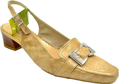 Pitillos 571 Arena - Zapato de Tacon Abierto por detrás