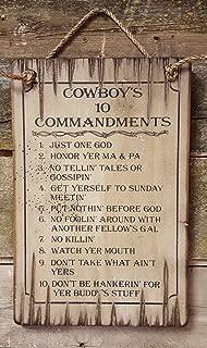 Best cowboy ten commandments plaque Reviews
