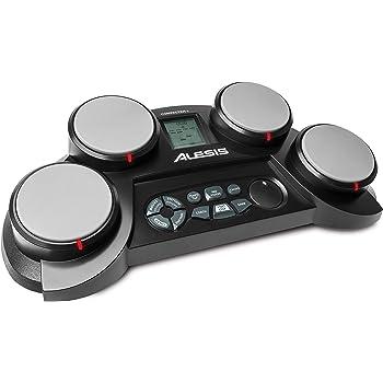Alesis Compact Kit 4 – Batterie Électronique avec 4 Pads Sensibles au Toucher, 70 Sons de Percussions, Modes d'Apprentissage et de Jeu, Alimentation sur Pile ou Secteur, Baguettes et Prise Casque