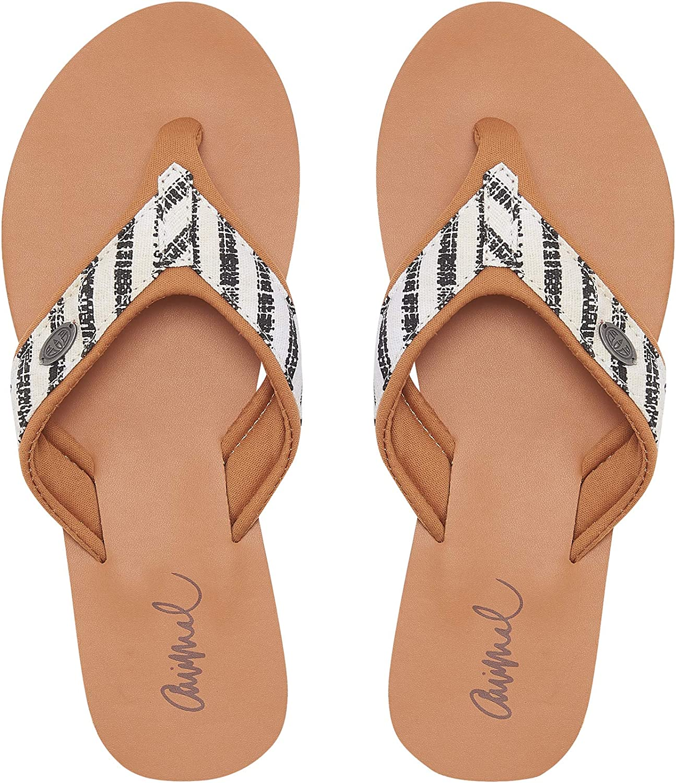 Animal Womens Swish Premium Summer Flip Flops - Filanium Grey