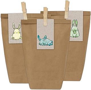 Papierdrachen 12 torebek na prezenty na Wielkanoc do majsterkowania – kreatywne gniazdo wielkanocne z 12 torebkami i nakle...