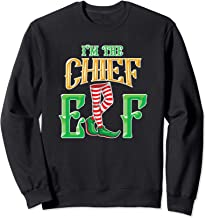 I'm the Chief Elf - Elf Gifts - Family Christmas Elf Pajamas Sweatshirt