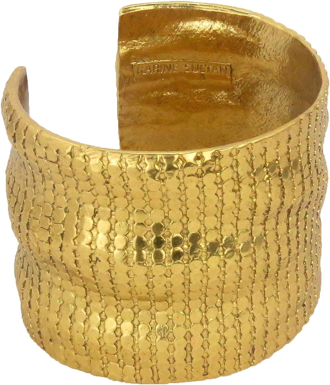 KARINE SULTAN Wavy Chainmail Cuff Bracelet