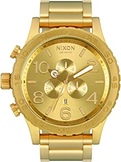NIXON - Reloj Cronógrafo para Hombre de Cuarzo con Correa en Acero Inoxidable Chapado A083-502-00