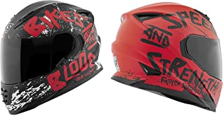 Speed and Strength SS1310 Bikes Are In My Blood Adult Street Motorcycle Helmet - Matte Red/Black/Medium