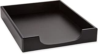 Rolodex Wood Tones Collection Front-Load Letter Tray, Letter-Size, Black (62523)