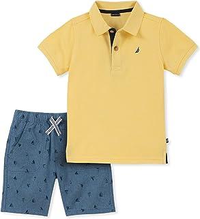 Nautica Sets (KHQ) Conjunto de 2 Piezas de Pantalones Cortos Tipo Polo para niños