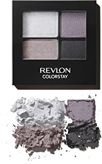 Revlon ColorStay 16 Hour Eyeshadow Quad with Dual-Ended Applicator Brush, Longwear, Intense Color Smooth Eye Makeup for Day & Night, Siren (525), 0.16 oz