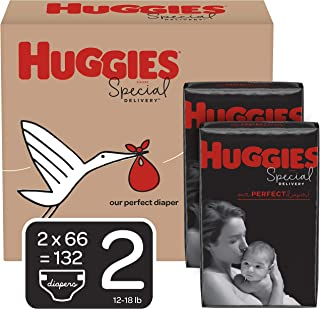 Huggies Special Delivery Hypoallergenic Diapers, Size 2 (12-18 lb.), 132 Ct, One Month Supply