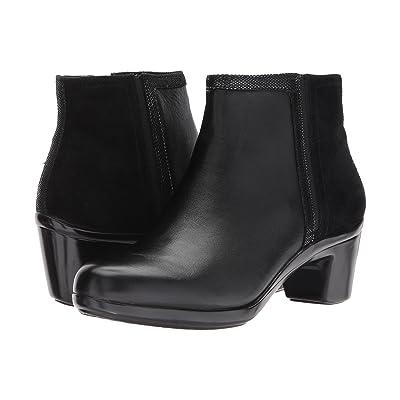 Aravon Lexee Binded Bootie (Black Leather) Women