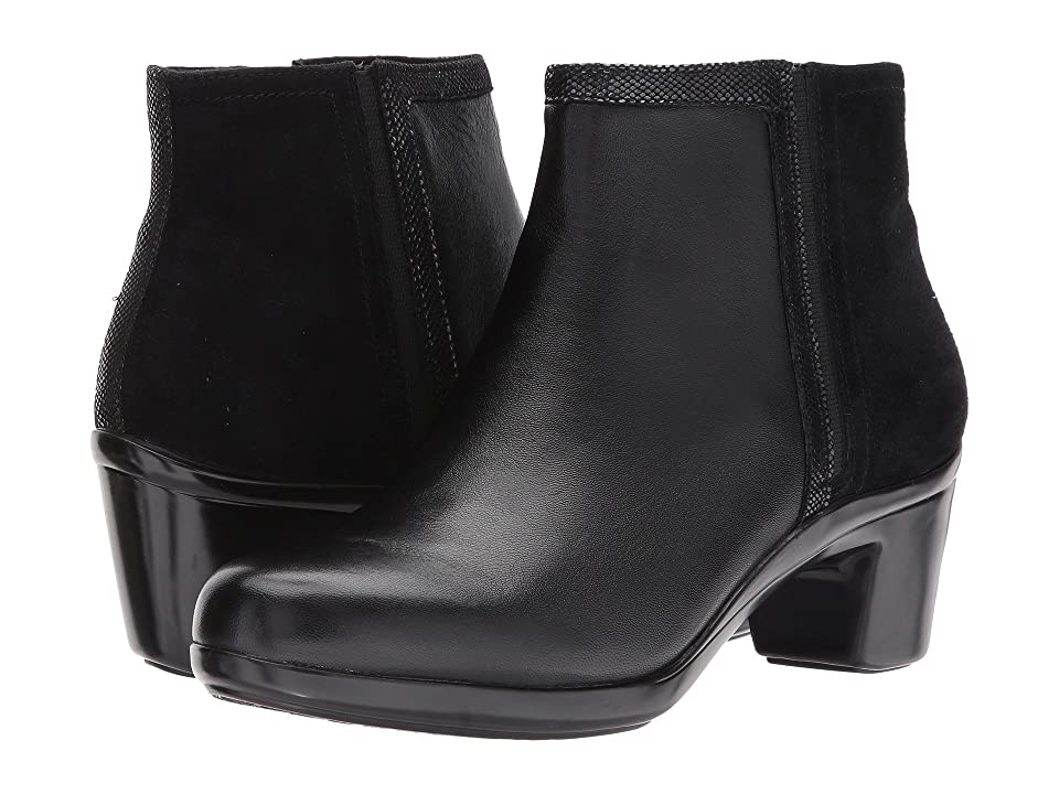 Aravon Lexee Binded Bootie (Black Leather) Women