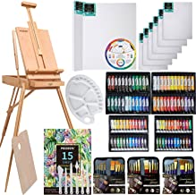 MEEDEN 145 Piece Deluxe Artist Painting Set with French Easel, Art Painting Brushes, Paint Tubes, Painting Pads, Stretched...