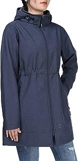 Outdoor Ventures Women's Softshell Fleece Lined Windbreaker Hooded Insulated Long Warm Up Jacket