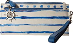 Brighton - Blue Water Tri-Zip Pouch