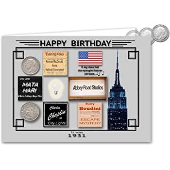 91st Birthday Card Souvenir of 1929 Silver Sixpence Gift Set 2020