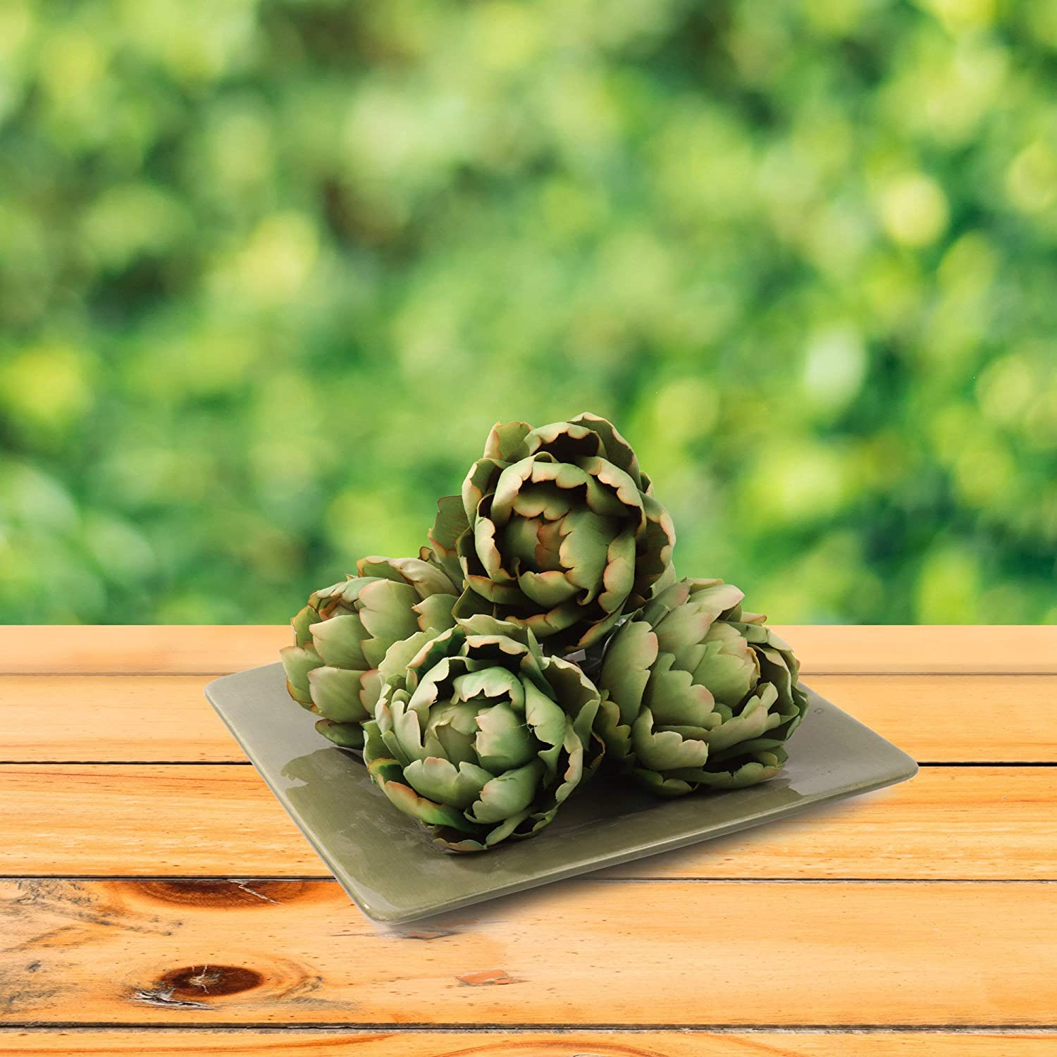 Green Artificial Artichoke Fake Vegetable Miami Limited time sale Mall Six Pack 4.5