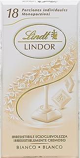 Lindt Lindor Singles Tableta de Chocolate Blanco con Relleno Cremoso - 100 gr