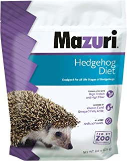 Mazuri | Nutritionally Complete Hedgehog Food | 8 Ounce (8 oz) Bag