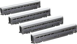 Kato USA Model Train Products Amtrak Superliner Phase IVb Car Set A, 4-Piece