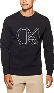 Calvin Klein Jeans Men's Block Chest Print Sweatshirt, Black, L