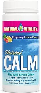 Natural Vitality Natural Calm Magnesium Anti Stress, Organic, Raspberry Lemon, 4oz