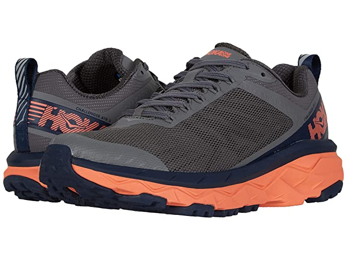 Hoka One One  Challenger ATR 5 (Charcoal Gray/Fusion Coral) Womens Shoes