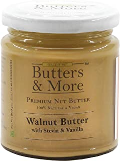 Butters & More Vegan Walnut Butter with Natural Vanilla Extract & Natural Stevia Extract (200G). Keto & Diabetic Friendly ...