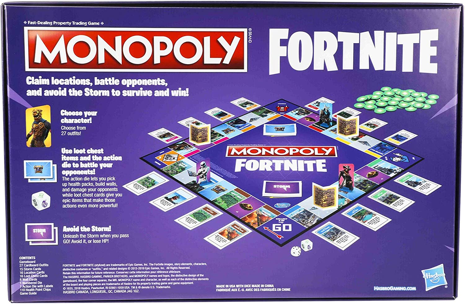 Board Game Details about  /Fortnite Monopoly LIMITED EDITION