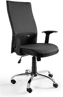 UNIQUE DESIGN FOR PEOPLE - Black ON Black - Silla giratoria de Oficina Escritorio - NL Negro