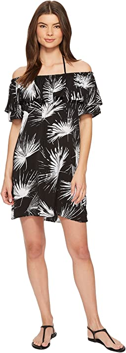 Petal Pusher Off the Shoulder Ruffle Dress Cover-Up