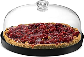 Godinger Cake Stand, Cake Platter Server with Dome, Metal Serving Tray and Shaterproof Acrylic Lid