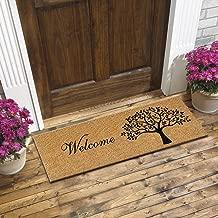 ATMAH Tree Welcome Coir Door mat - Size 120cm x 40cm