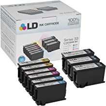 LD Compatible Ink Cartridge Replacement for Dell Series 33 & 34 Extra High Yield (3 Black, 2 Cyan, 2 Magenta, 2 Yellow, 9-Pack)
