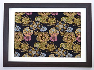Kimono Fabric Frame made in kyoto No.3 (Bellflower & Ball) Gold color