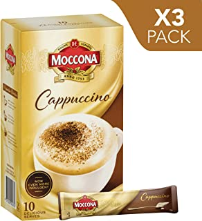 Moccona Instant Coffee Cappuccino - 10 Individuals Sachets (150g x 3 Packs)