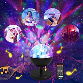 Galaxy Projector Star Projector Night Light with Speaker,Sound Activated Starlight with Remote Control, Disco Lights Sky L...
