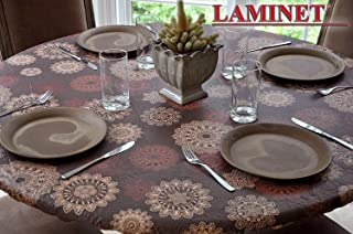 "LAMINET Elastic Fitted Table Cover - Medallion - Large Round - Fits Tables up to 45-56"" Diameter"